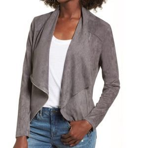 Blank NYC Faux Suede Drape Front Jacket Size XS